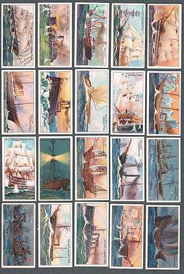1911 Wills's Cigarettes Celebrated Ships Tobacco Cards Complete Set of 50