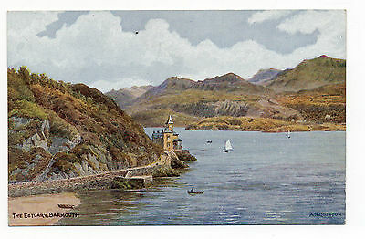 The Estuary,barmouth.salmon Art Postcard By A.r.quinton