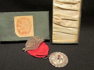 IOOF Grand Lodge Saskatchewan VF Vintage 1907 Medal & Box First Year Instituted