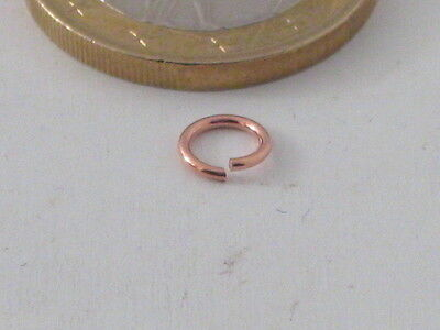12 Anellini Aperti Di Mm 4  In Argento 925 Placcato Oro Rose'  Made Italy