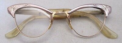 Vintage AO Amercian Optical Bifocal Eyeglasses Cats Eye 12kgf 4 1/4-5 1/2 As-Is