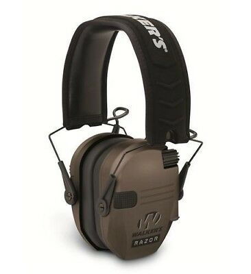 Walkers Razor Series Slim Shooter Folding Ear Muff - Dark Earth WGE-GWP-RSEM-FDE