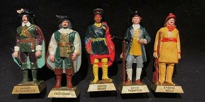 Canadian 5 Historical Figures Brant, Champlain, Frontenac, Brule, Thompson