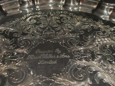 Hiram Walker & Sons Ltd Vintage Silverplate Charger Tray by Victorian Plate