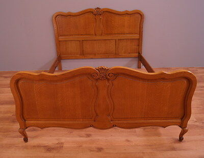 1796 !! Wonderful Oak French Double Bed In Louis Xv Style !!