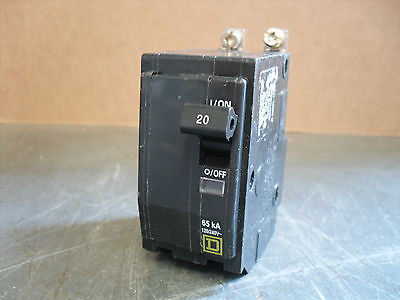 NEW Square D QHB QHB115 1 Pole  65ka 15 amp Circuit Breaker Yellow BOLT ON