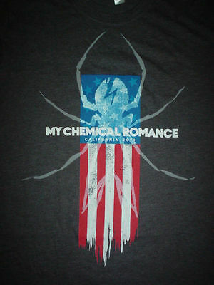 MY CHEMICAL ROMANCE American Flag Spider 2010 Tour NEW XS T SHIRT Extra Small