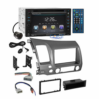 Planet Audio Car Camera Stereo DDin Taupe Dash Kit Harness for 06+ Honda Civic