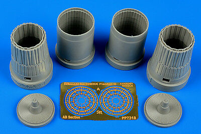 AIRES 7318 Exhaust Nozzles for Trumpeter® Kit Su-30MKK Flanker G in 1:72