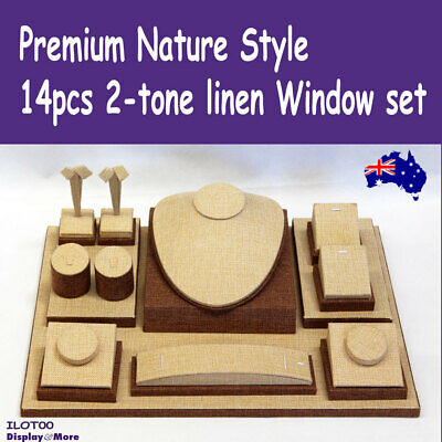 PREMIUM Jewellery Window Display Set | Classy 2-tone Linen | AUSSIE Seller