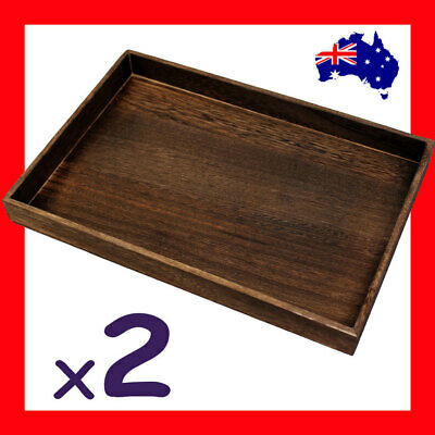 2X Wood Flat Jewellery Tray NATURE Style | AUSSIE Seller Fast Shipping