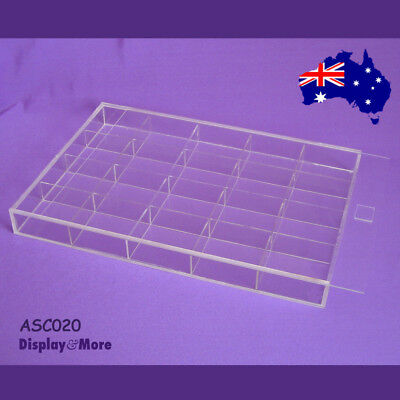 RELIABLE Clear Acrylic Bead Display Storage Case-20 Compartments | AUSSIE Seller