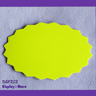 30X New Retail Shop Price Sign Card-8.5x13cm-Fluro Yellowish Green