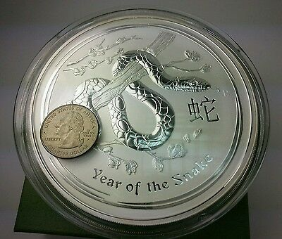 2013P 1KG (1000g) Year Of The Snake Lunar .999 Big Silver Coin $30 LowestOnEbay