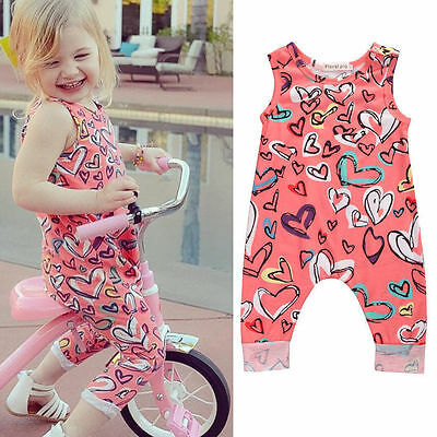 Newborn Baby Girls Boys Clothes Floral Romper Bodysuit Cotton Outfits