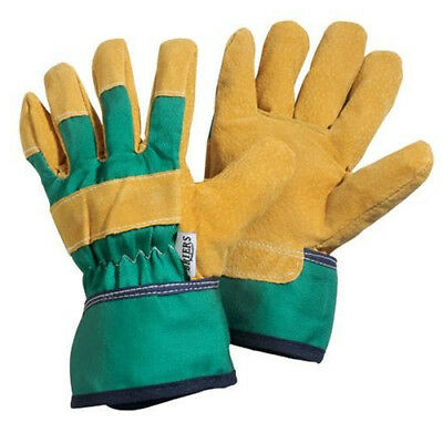 Briers Kids Rigger Gloves Green 8-12yrs Garden / Workwear B0084