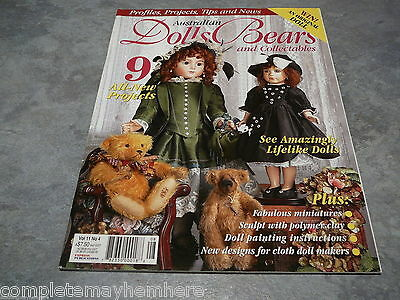 Australian Dolls, Bears and Collectables Vol. 11 No. 4 life-like dolls