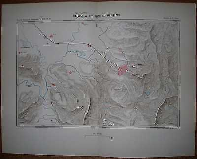 1893 Reclus map BOGOTA AND VICINITY, COLOMBIA (#2)