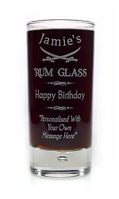 Personalised BIRTHDAY RUM Highball Glass Gift For Grandma/Nanny/60th/65th/70th