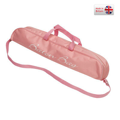 "Twirling Majorette Baton Bag Carrying 32"" - Pink Dance Twirler Holder UK Show"