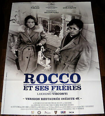 ROCCO & HiS BROTHERS Alain Delon Jeanne Moreau Visconti LARGE French POSTER