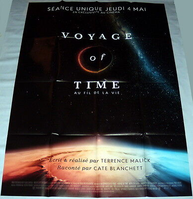 VOYAGE OF TiME : LiFE'S JOURNEY  Terrence Malick Documentary LARGE French POSTER
