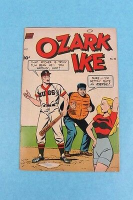 Vintage 1952 #25 Ozark Ike Baseball Comic Book By Standard Publishing