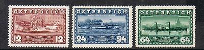 STAMPS  from  AUSTRIA  1937 100 YEARS  DDSG (SHIPS)  (MLH)  A135a