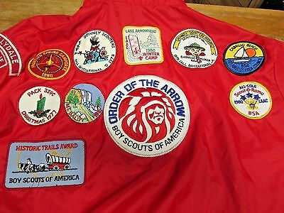 bsa official boy scouts of america jacket with 1970s patches troop # 339