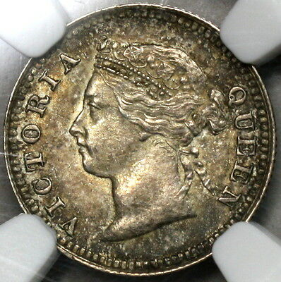 1886 NGC MS 61 MAURITIUS Silver 10 cents Victoria Coin (15110103D)