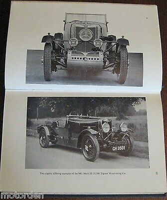 Maintaining the Breed: MG Racing Cars BOOK 1956 edition well illust FREE POSTAGE