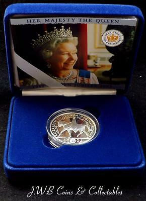 2002 Elizabeth II Silver Proof £5 Five Pound Coin Golden Jubilee