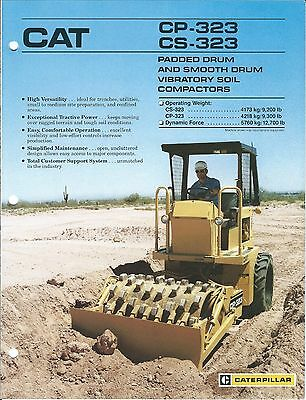 Equipment Brochure - Caterpillar CP-323 CS-323 Vib Soil Compactor 2 item(E3673)