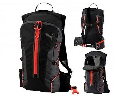 Mens Womens Running PUMA MICRO PR lightweight BACKPACK Sports Fitness Zip Back