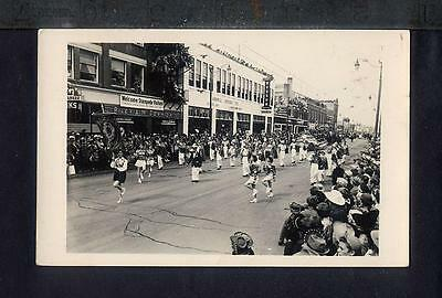 1952 CALGARY STAMPEDE PARADE Real Photo Postcard RPPC RODEO