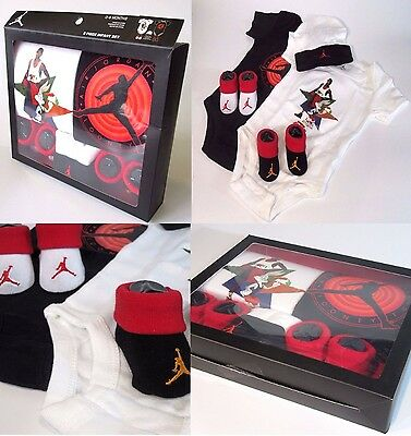 Baby Babies Infants Boys Girls JUMPMAN BUGS BUNNY JORDAN 23 5 Piece Bodysuit set
