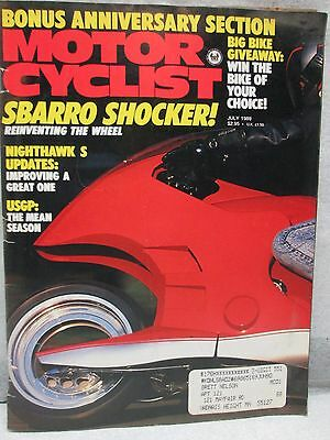 Vintage Motor Cyclist Motorcyclist Magazine July 1989 Nighthawk S Motorcycle