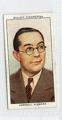 #44 carroll gibbons radio celebrity card
