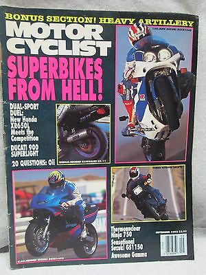 Motor Cyclist Motorcyclist Magazine September 1992 Kawasaki ZX-11 Motorcycle