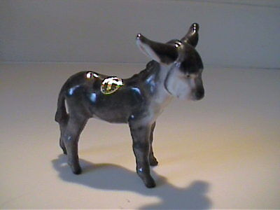 "Vintage 1983 Disigner Workshop Hagen Renaker ""harry""  The Gray Donkey Foal"