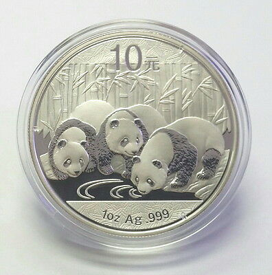 CHINA 2013 10 YUAN PANDA 1oz. PURE SILVER .999 CHINESE BU