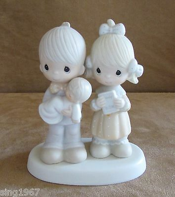 Recjoicing with You Baby Precious Moments figurine boy girl christening