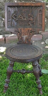 1800's Antique Hand Carved Chair