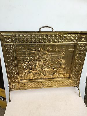 Vintage Brass Fire Screen  Country Cottage Living Traditional  28/2/C
