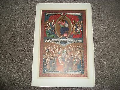 "LIVES OF THE SAINTS   RELIGIOUS PRINT Taken from old book  7""x10"""