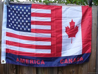 Wholesale Lot Of 8 Usa Canada 2X3 Flags America Canadian American U.s.a U.s. Us