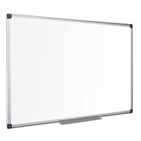 NEW! Bi-Office Maya Melamine Aluminium Framed Dry-wipe Board 900x600mm
