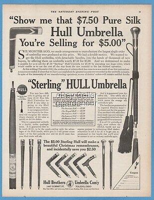 1911 Hull Brothers Umbrella Company Toledo Ohio Pure Silk Sterling print ad