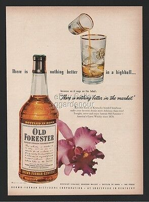 1952 Old Forester Brown Forman Louisville KY Highball Cocktail Nothing Better Ad