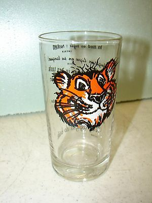 """ESSO Gasoline Drinking Glass - """"Put A Tiger In Your Tank""""."""